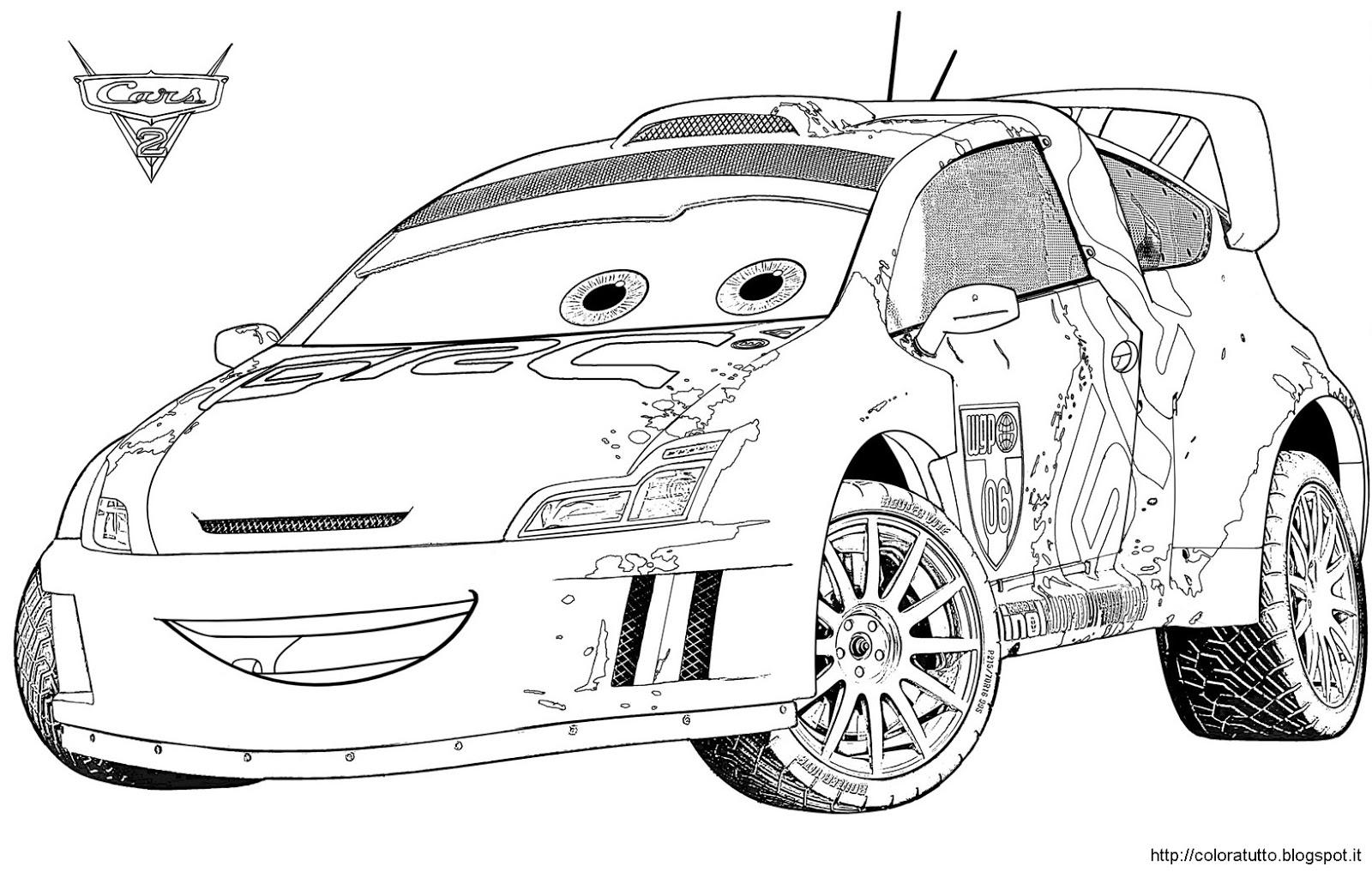 Cars 2 disegno da colorare for Immagini flash da colorare