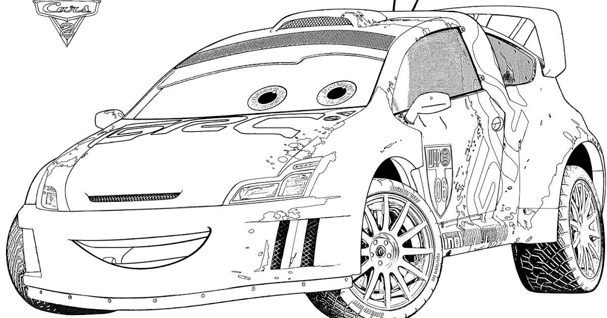 Cars 2 disegno da colorare n10