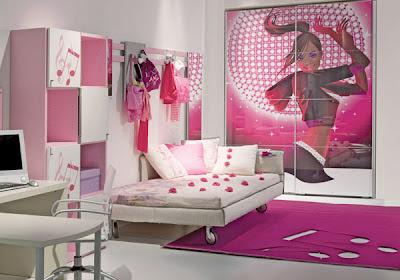 Dormitorios color rosa para adolescentes dormitorios con for Diseno de habitacion para adolescente