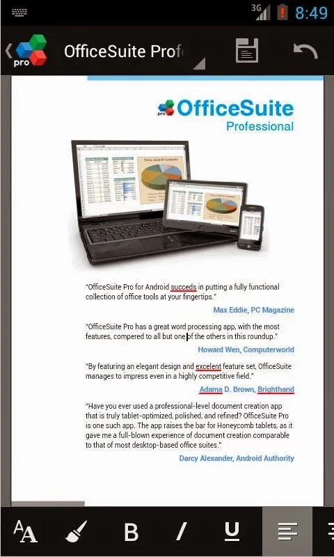 OfficeSuite Pro 7 (PDF & HD) v7.4.1853
