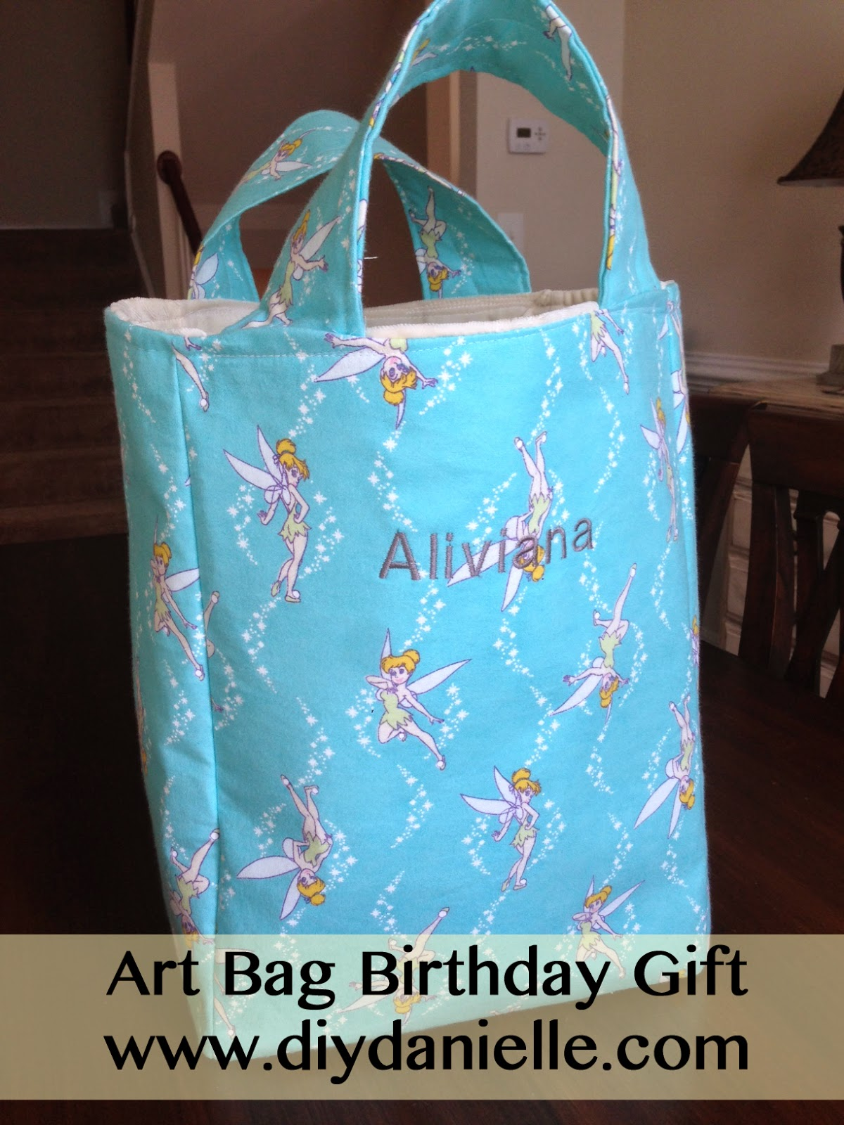 Art Bag Birthday Gift for a 3 year old