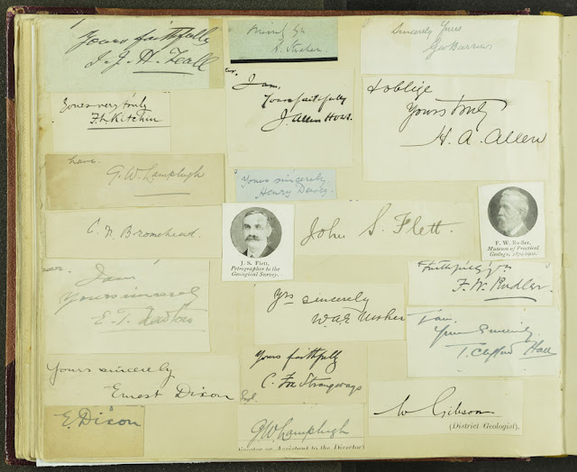 Page of signatures of Geological Survey of Great Britain staff. From the Geologists' Association 'Carreck Archive'.