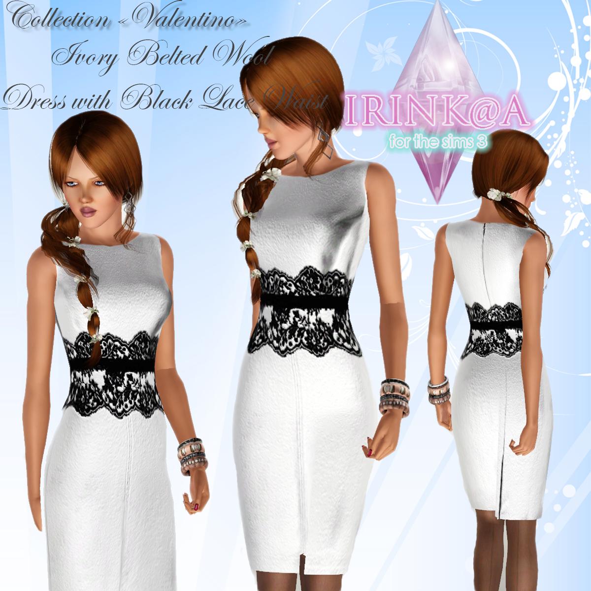 Sims 3 lace dress 04