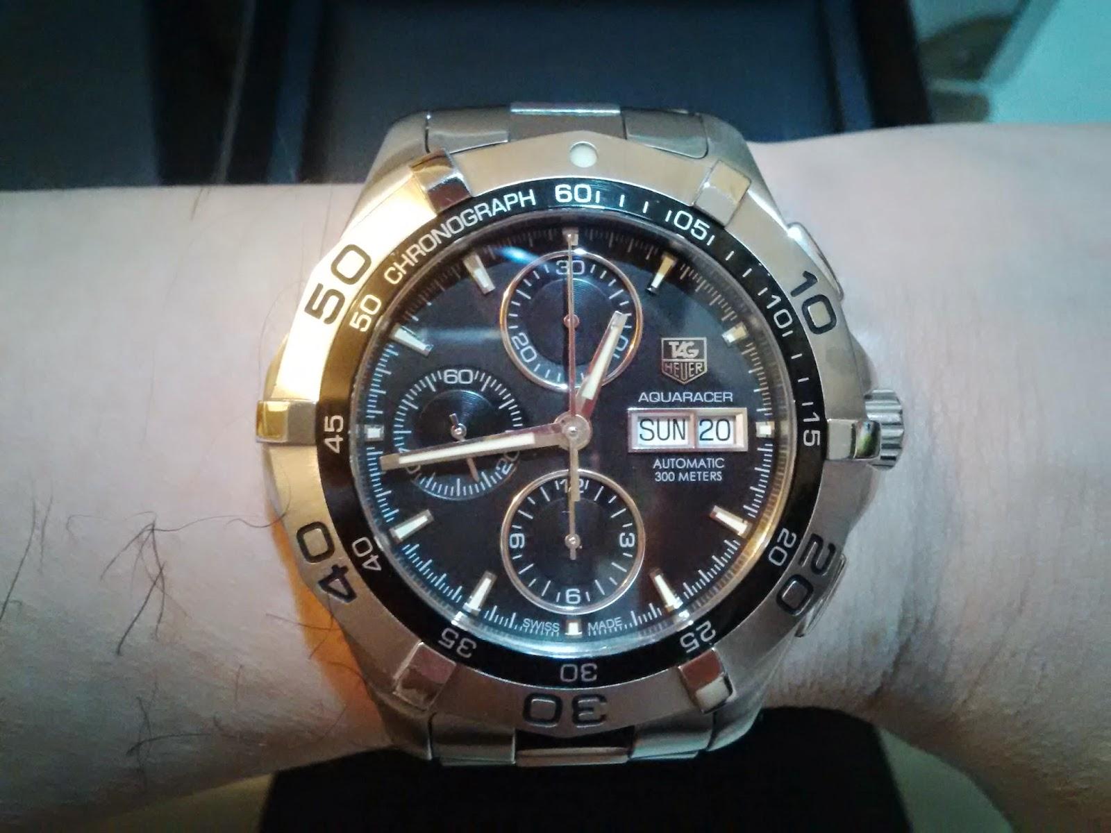 tag heuer aquaracer 300m chronograph manual