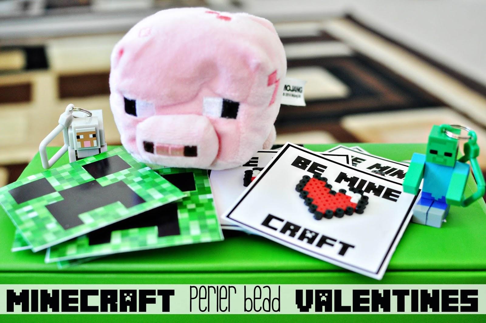 Funky Polkadot Giraffe: Minecraft Perler Bead Valentines