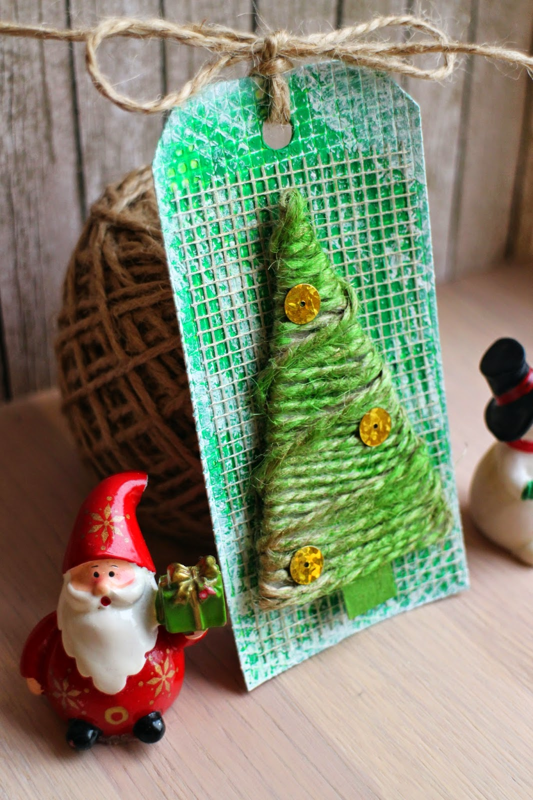 tag New Year tree scrapbooking скрапбукинг тег ёлка зелёный золото hamster-sensey