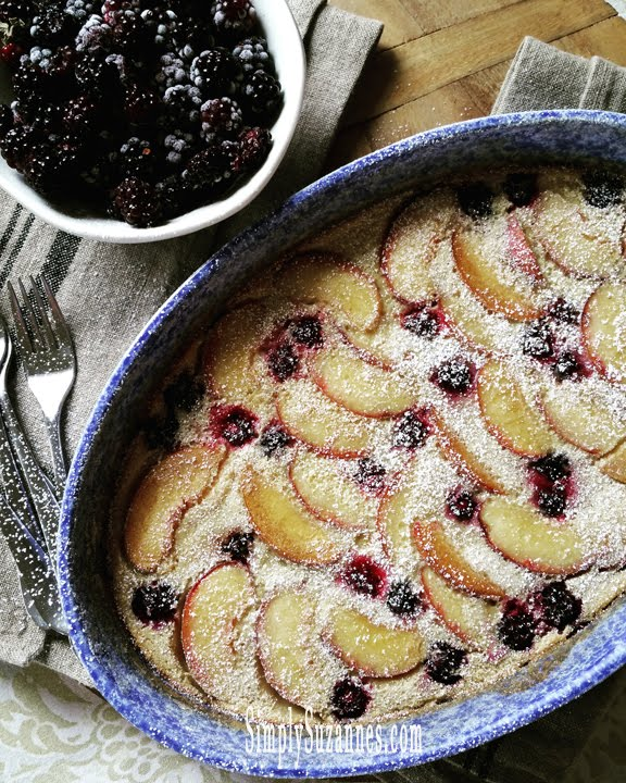 peach & blackberry clafoutis