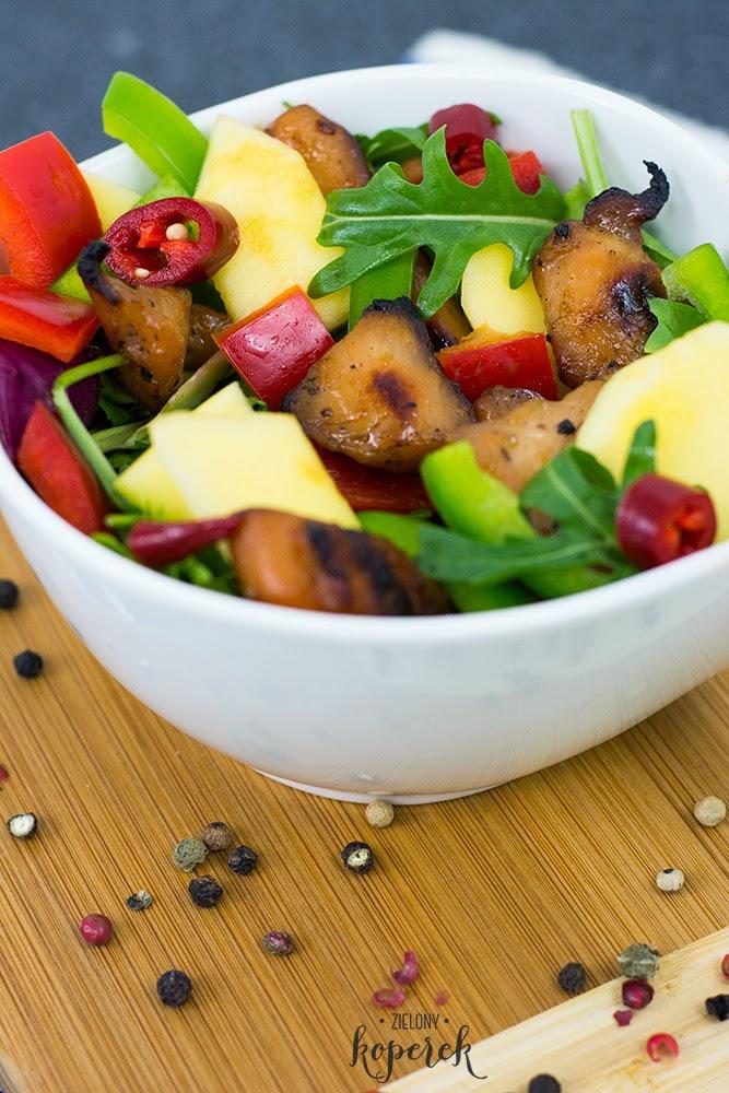 Salatka z kurczakiem teryaki i melonem