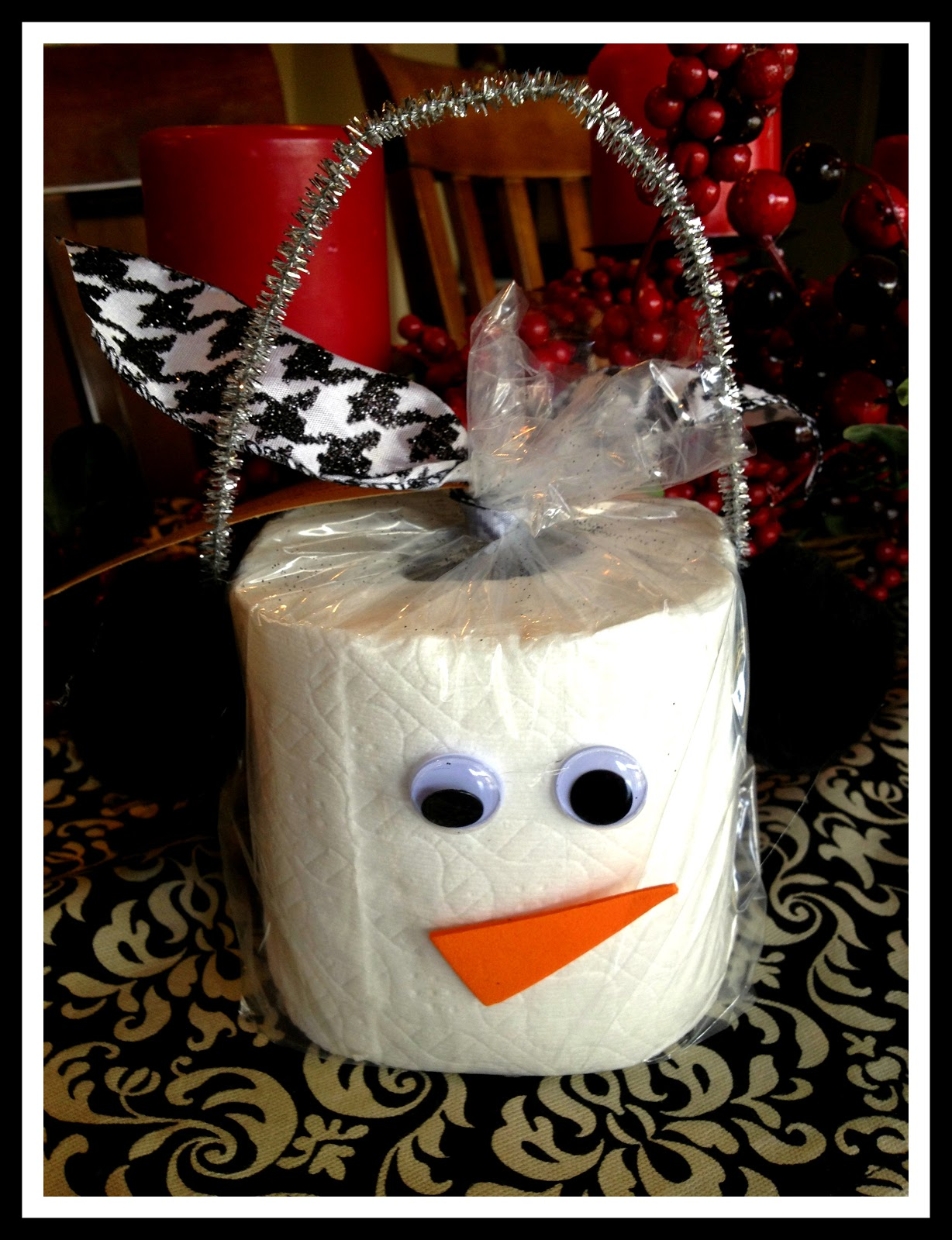 cute toilet paper christmas gift idea
