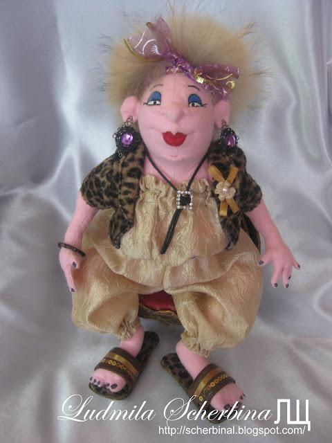 текстильная кукла Афродита Макаровна