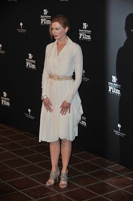 Nicole Kidman looked effortlessly gorgeous in a white Nina Ricci dress