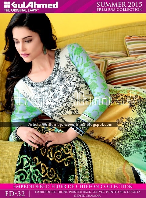 Gul Ahmed - Premium Fancy Summer 2015