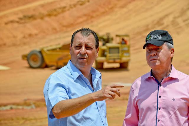 Governador Omar Aziz e prefeito Arthur Neto visitam obras estratégicas para o futuro