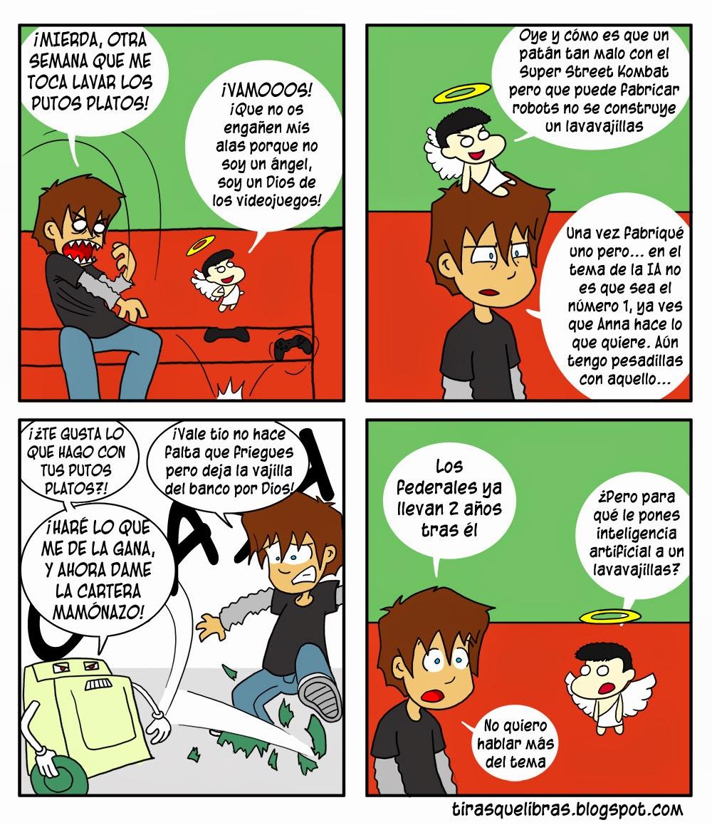 webcomic ye lo que hay, Ismmael y el lavavajillas malvado