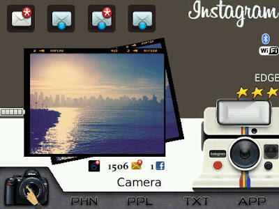 Instagram Theme for BlackBerry