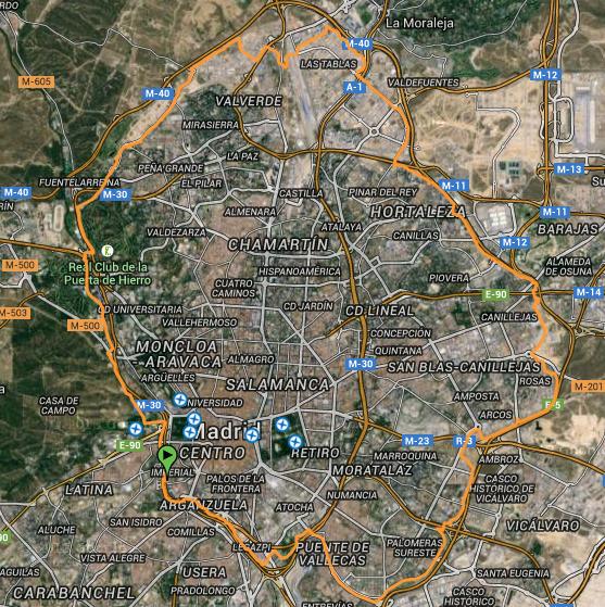 Vuelta nocturna al anillo verde ciclista de madrid mayo 2015 - Anillo verde ciclista madrid mapa ...