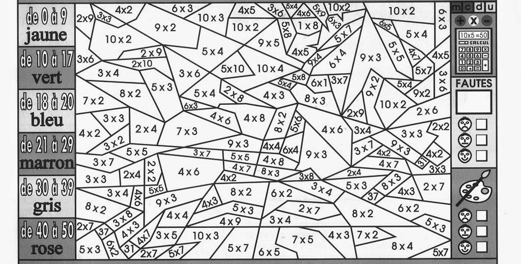 Souvent Coloriage Mathématiques Ce1 | Liberate GQ92