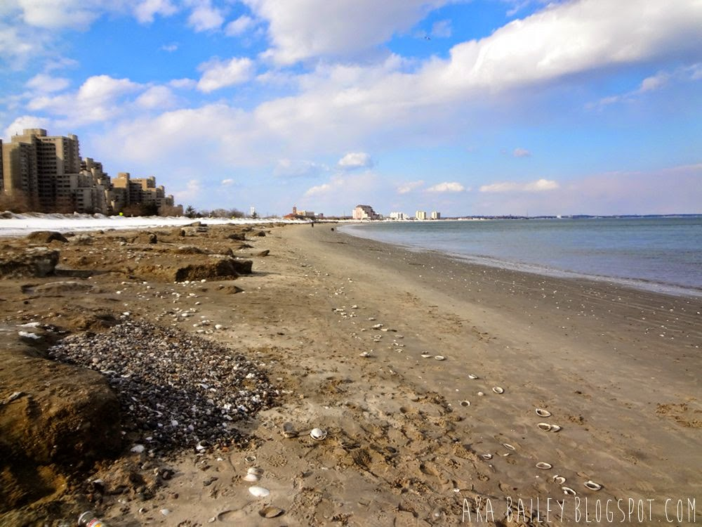 Icy and snowy Revere Beach