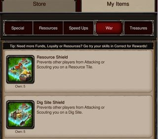 Mz Recently Added Dig Site Shields And Resource They Protect Your Troops Hero While You Re On A Tile Just Like Peace Shield Protects Them In