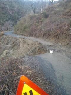 Κατολισθήσεις σε χωριά του Ταϋγέτου από τις βροχοπτώσεις