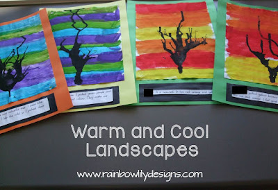 Warm and Cool Landscapes art www.rainbowlilydesigns.com
