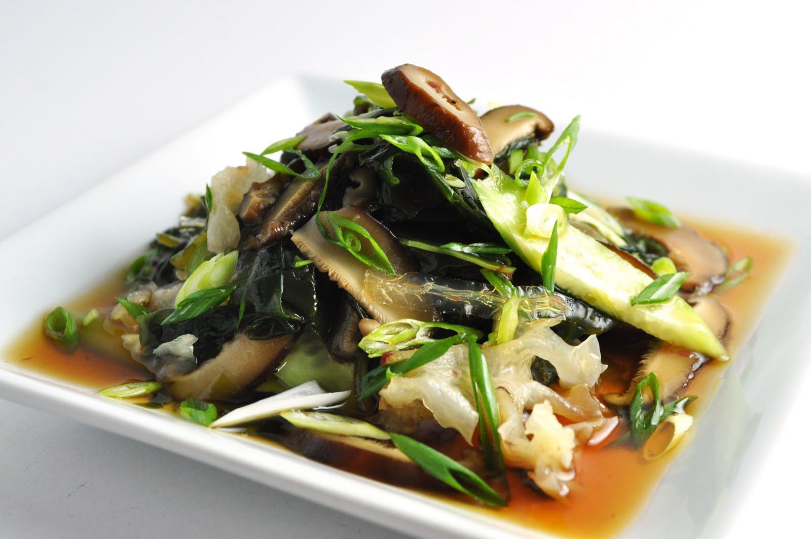 Seaweed Salad with Shiitake Mushrooms
