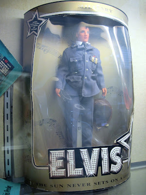 Treasure hunters will find a trove of Old New York classics at Colony Records including this Elvis doll