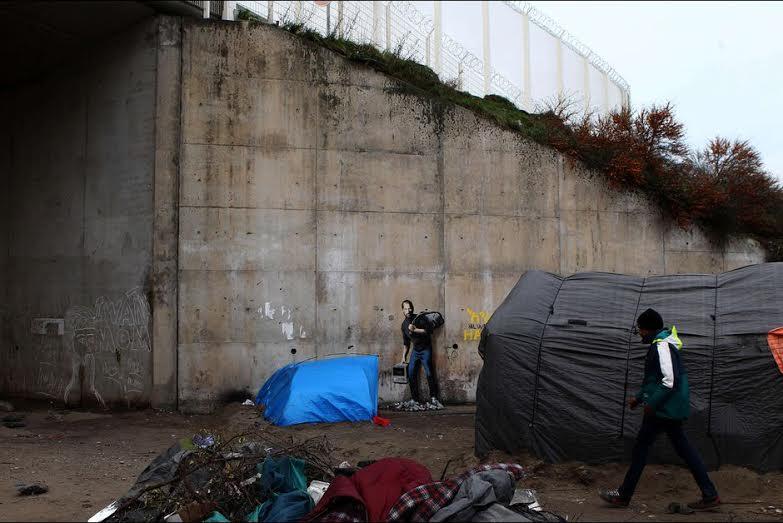 Oeuvre de BANSKI à Calais