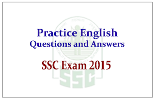 Practice English Questions and Answer for SSC