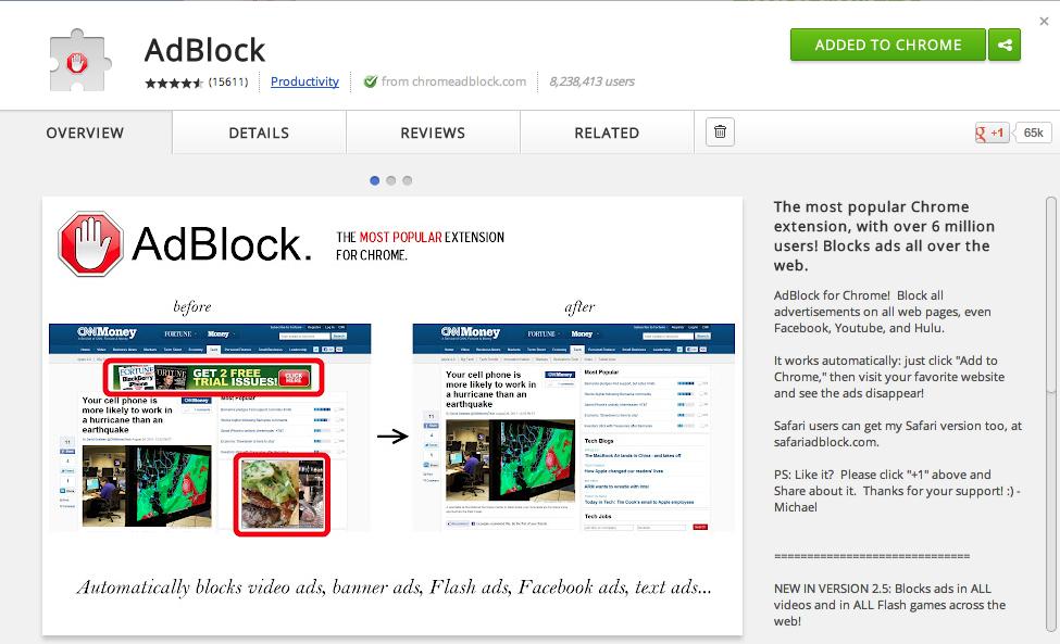 Как сделать чтобы не вылазила реклама в браузере гугл хром