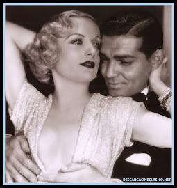 Carole Lombard y Clark Gable  en Casada por azar 1932