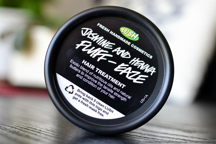 Lush Jasmine and Henna Fluff-Eaze Hair Treatment Deep Conditioning Prewash Mask - Natural Haircare - Review