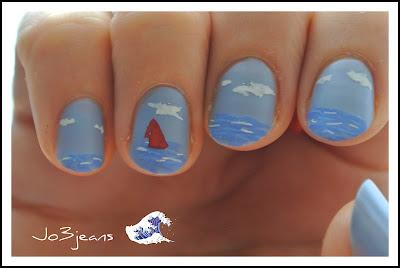 nailstorming, nail art, vernis, défi, Océan, sea-reine et coquillages, mer, neptune, poissons, sirènes, vagues, crustacés, maritime,
