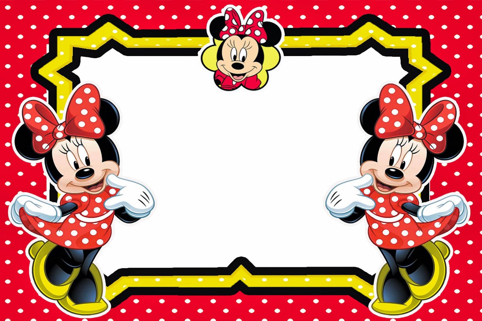 Lembrancinhas Personalizadas Da Rcbx Minnie Vermelha Kit Digital