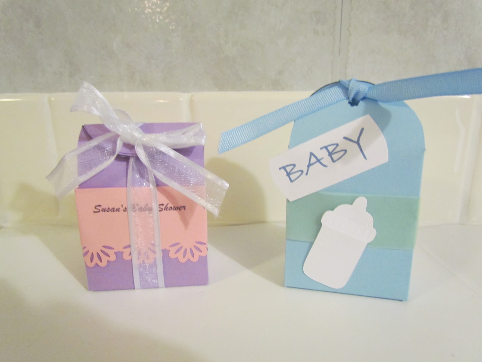 girl and boy gift bags for baby shower here are some gift bags i have