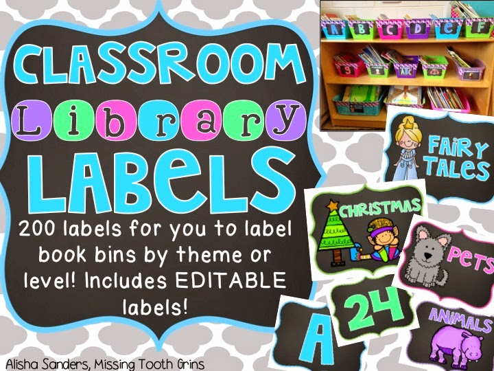 http://www.teacherspayteachers.com/Product/Classroom-Library-Labels-Chalkboard-EDITABLE-1347740
