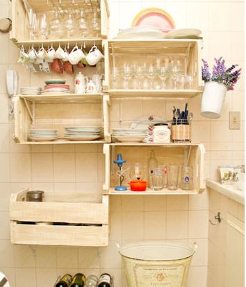 Organizada creativo Lavanderia : Querido Ref?gio - Blog de decora??o: Caixotes na decora??o