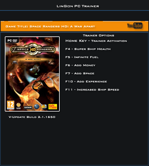 Space Rangers HD v2.1.1650 Steam Trainer +6 [LinGon]
