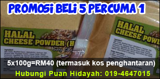 promosi murah halal cheese powder percuma 1