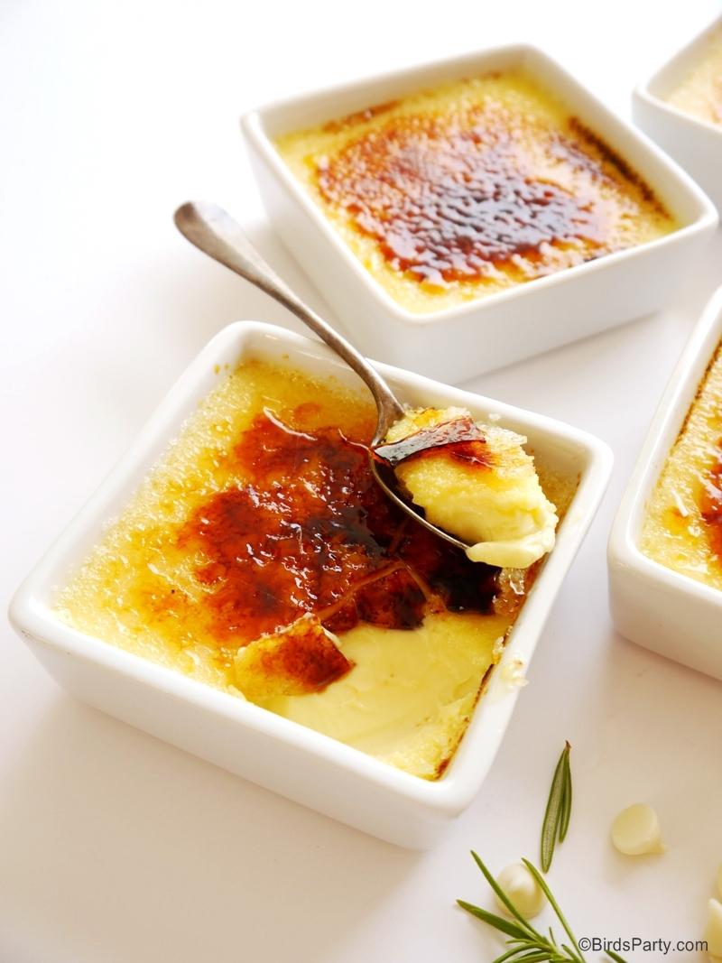 Recette Crème Brulée au Chocolate Blanc & Romarin