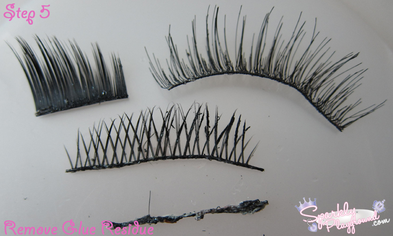 TUTORIAL: How to Clean and Reuse False Eyelashes - Sparkly Playground