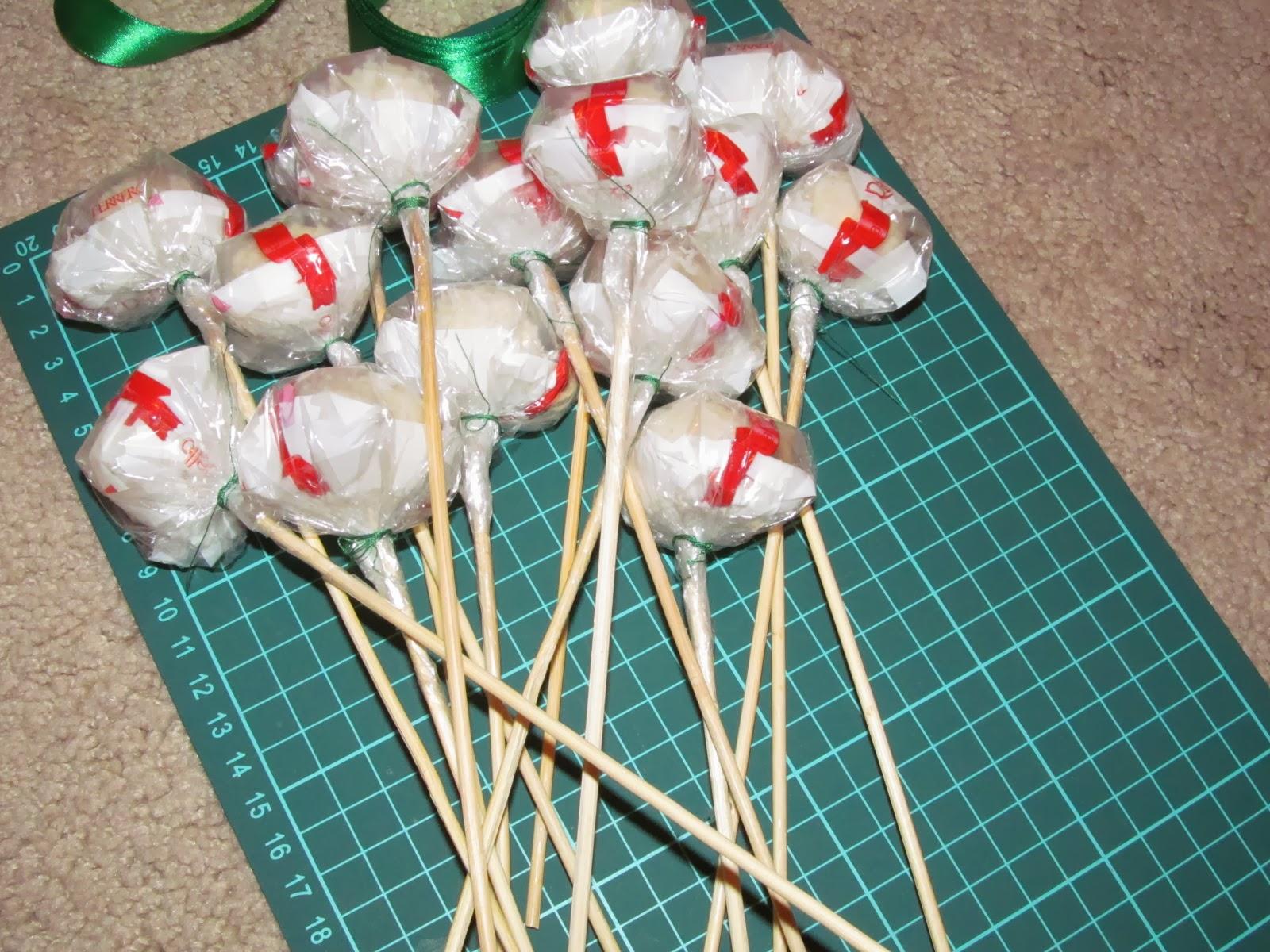 Букет из конфет Раффаэлло. Мастер-класс с пошаговыми фото 89