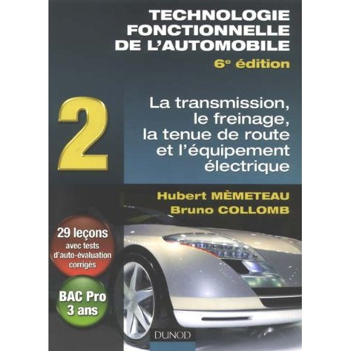 ebooks gratuits technologie fonctionnelle de l 39 automobile tome 2 transmission freinage. Black Bedroom Furniture Sets. Home Design Ideas