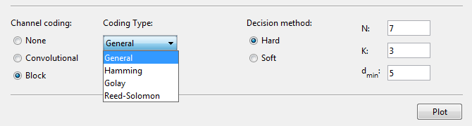 "Block Coding Option in MATLAB ""bertool"" : Bit Error Analysis Tool in MATLAB Communication System Toolbox"