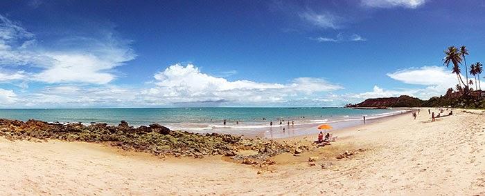 Olhar panorâmico da Praia de Tabatinga