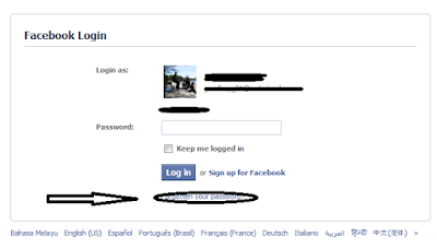"Mestilah tak dapat login kan, jadi tekan ""Forgotten your Password"","