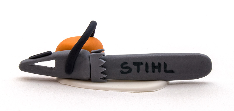 Stihl chainsaw fondant side