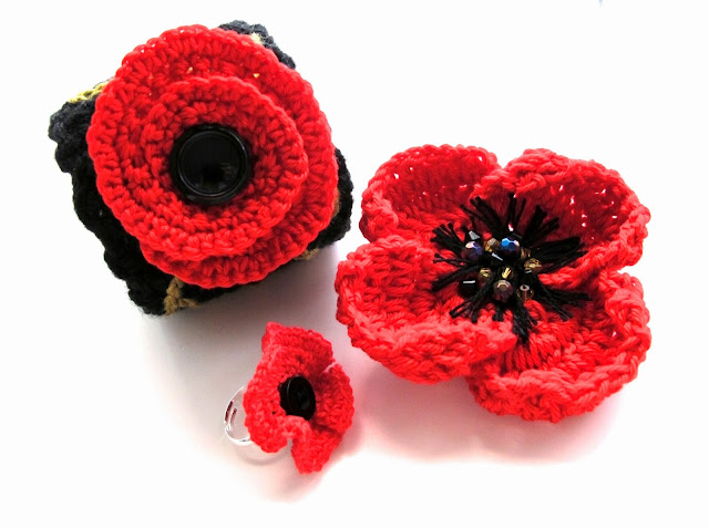 poppy flower crochet