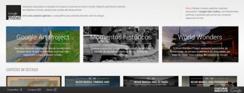 Instituto Cultural do Google - Um grande acervo de arte online