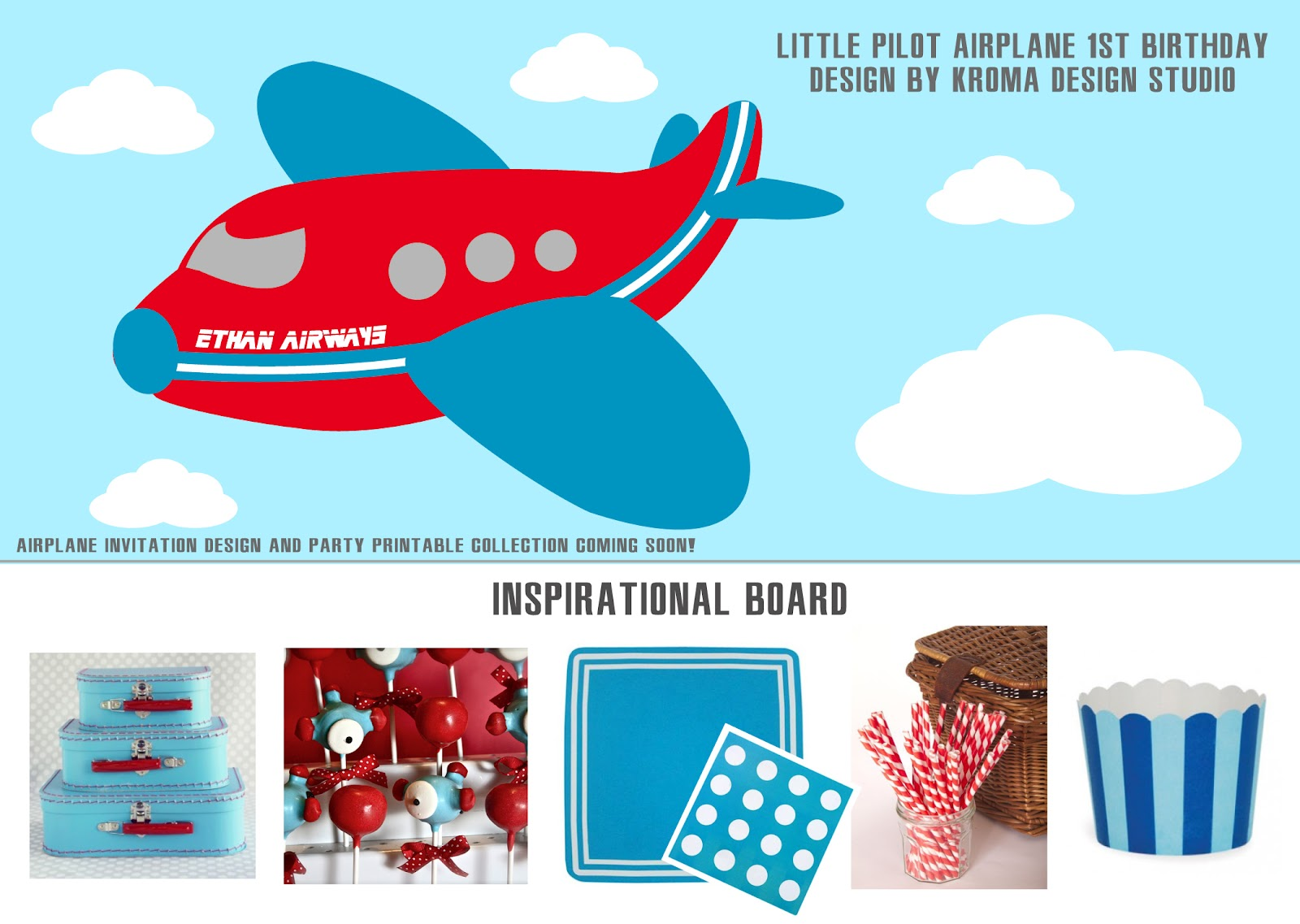 Airplane Themed Birthday Invitation ~ Image Inspiration of Cake ...